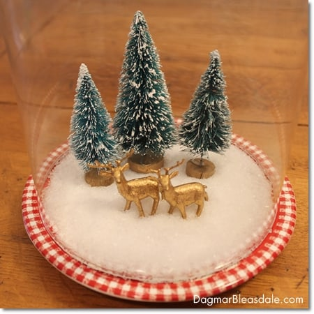 DIY bottle brush and Epsom salt  snow globe