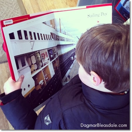Wordless Wednesday Linky: Giant Titanic Book for Kids