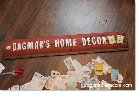 DIY Project: Making My Store Sign Out of Salvaged Wood
