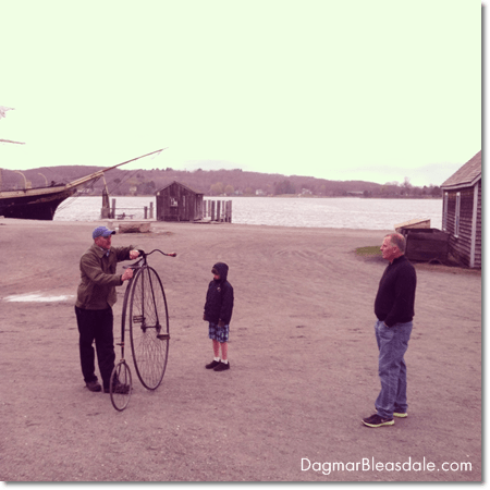 vintage bicycle at Mystic Seaport Museum, CT