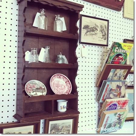 vintage shelf in Newburgh Vintage Emporium, NY