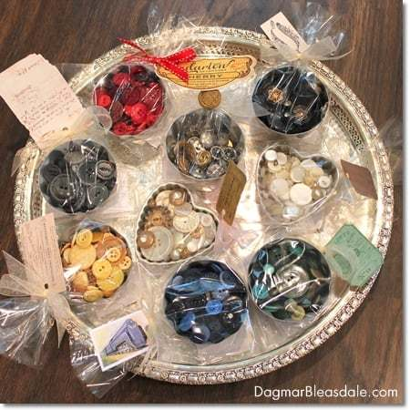 DIY Project: Vintage Buttons in Vintage Jello Molds