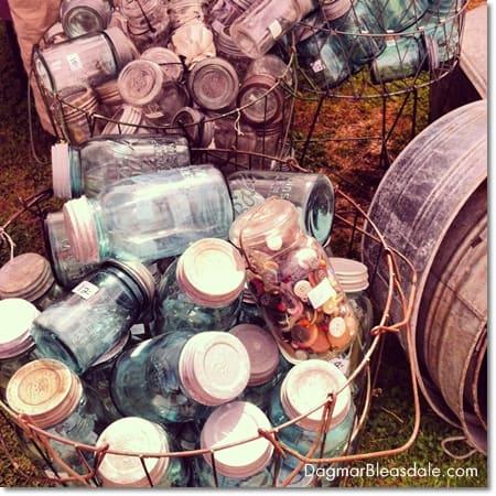 vintage mason jars, Country Living Fair in Rhinebeck, DagmarBleasdale.com