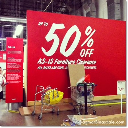 As Is section at Ikea, 50% off