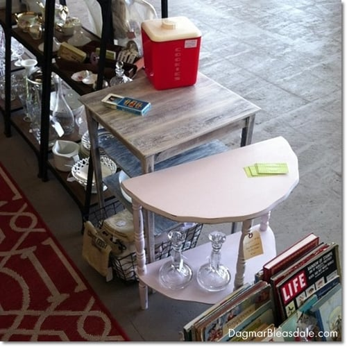 little tables painted with chalk paint
