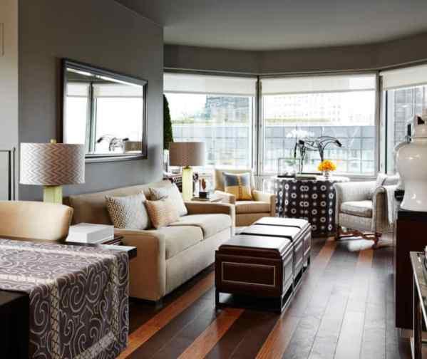 Vern Yip's New York apartment with cork flooring