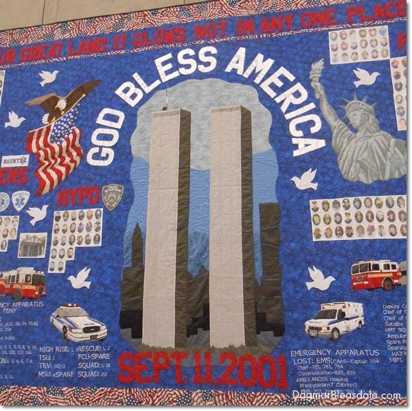 quilt, 9/11 Museum, Manhattan, New York