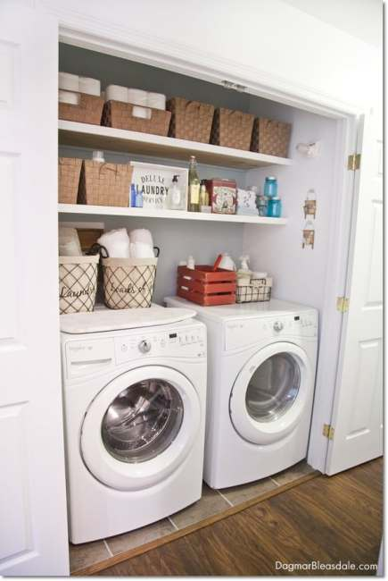 Blue Cottage Decor: laundry closet