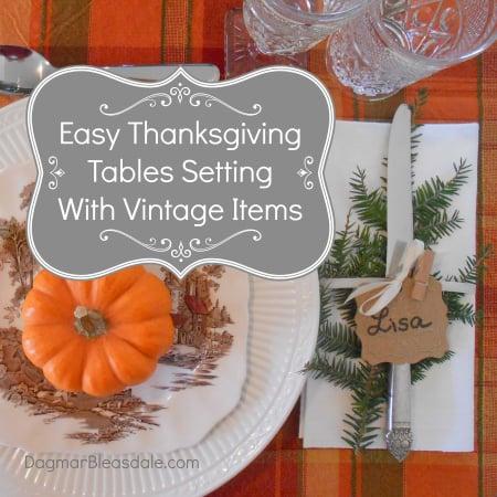 vintage Thanksgiving table setting