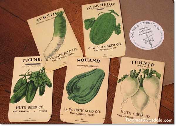 vintage seed packets,