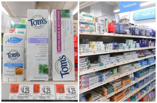 Tom's of Maine products at Walmart