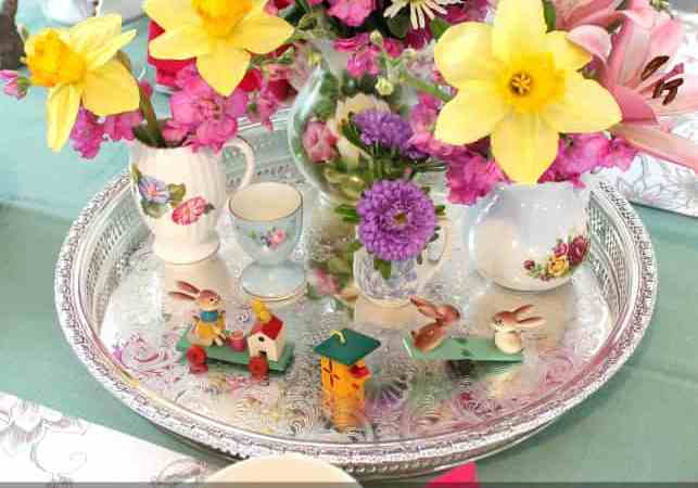 Easy Easter Tablescape and Mantel Decor at the Blue Cottage