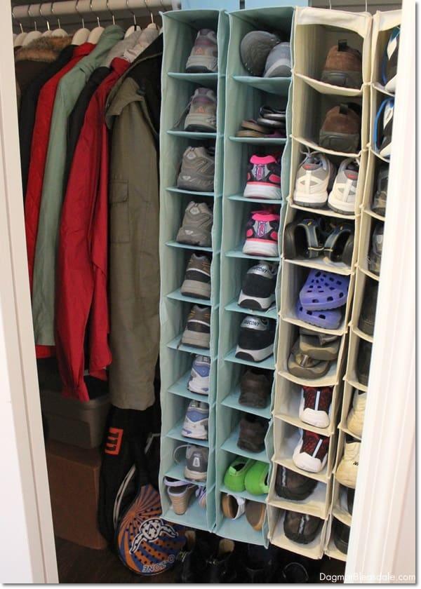 $20 coat closet makover. DagmarBleasdale.com