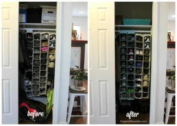 $20 coat closet makeover, DagmarBleasdale.com