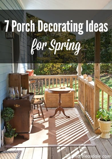 Porch Decorating Ideas for Spring. DagmarBleasdale.com