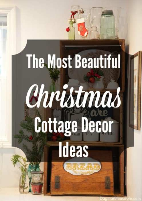 Christmas cottage decor, DagmarBleasdale.com