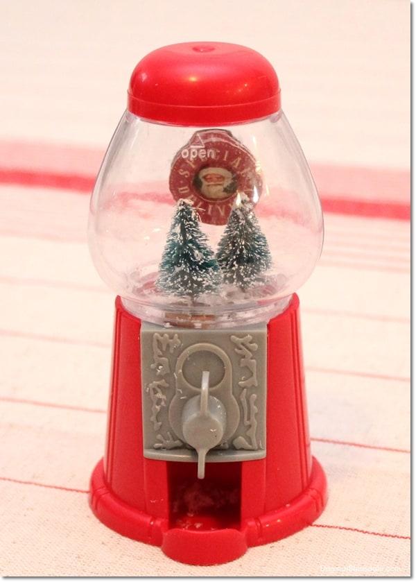 DIY Gumball Machine Snow Globe, DagmarBleasdale.com