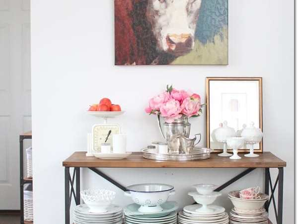"""Thrifty & Vintage Finds"" Link Party 101 – Thrifty Farmhouse Table"
