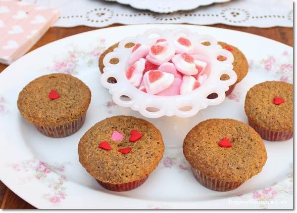 Valentine's Day muffins, DagmarBleasdale.com