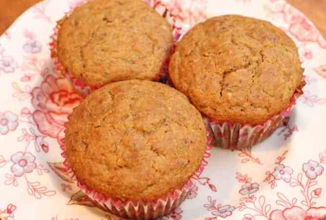 Easy Banana Bran Cottage Cheese Muffins