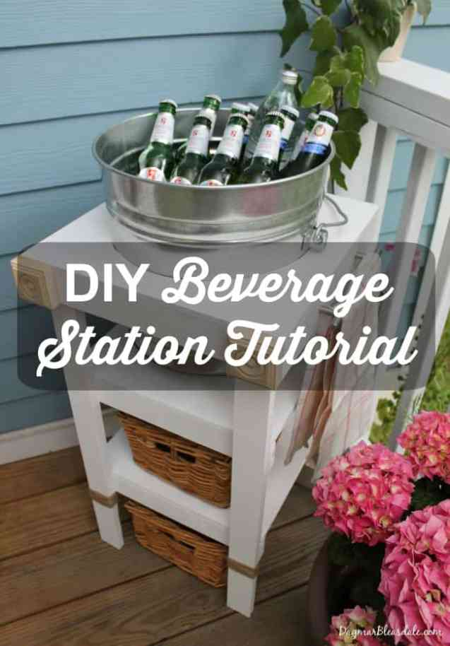 diy beverage station tutorial