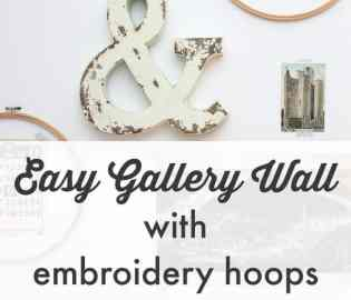 Gallery Wall With Vintage Embroidery Hoops