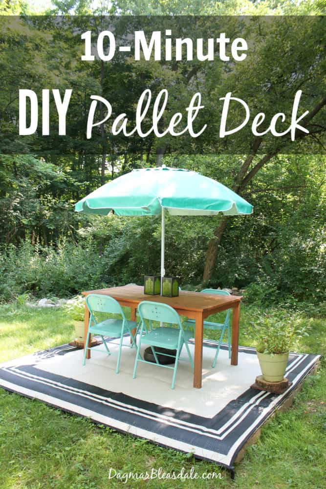 easy diy pallet deck with 20 outdoor rug