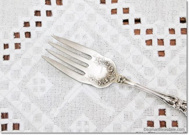 vintage silver fork, DagmarBleasdale.com