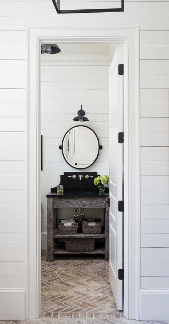 11 Stunning Examples of Farmhouse Shiplap Paneling on Farmhouse Tile Bathroom Floor  id=69692