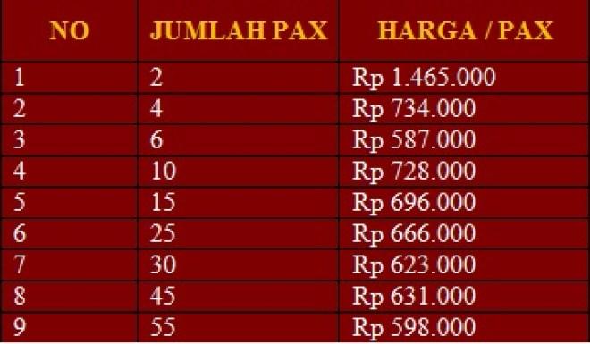 Harga paket wisata Bandung 2 hari 1 malam