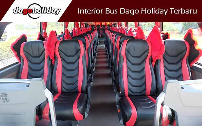 Interior Sewa Bus Pariwisata Bandung Terbaru Dago Holiday