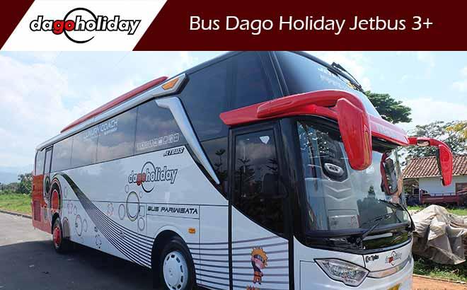 Sewa Bus Pariwisata Bandung Dago Holiday Jetbus 3+ Terbaru