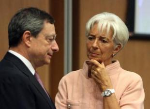 ario Draghi e Christine Lagardee cf fc e df c a d
