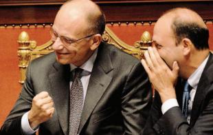LETTA E ALFANO FESTEGGIANO IN SENATO