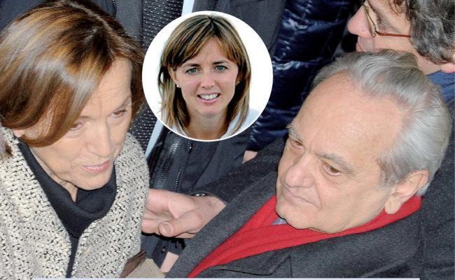 Elsa Fornero, Mario Deaglio e, nel tondino, Silvia Deaglio