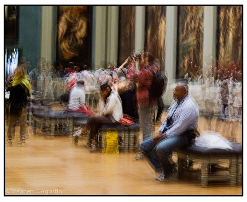 In the presence of masters - Paris 2005. An example of photo impressionism.