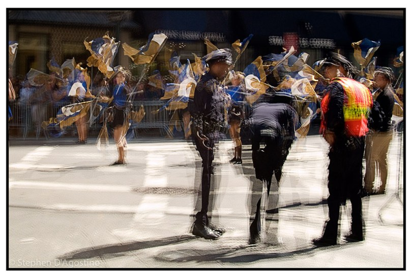 On parade - New York 2006. An example of photo impressionistic technique.