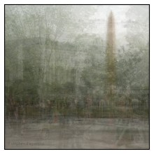 Washington Monument in the round. A photo impressionisitic montage. © Stephen D'Agostino