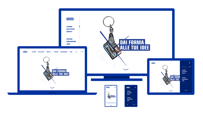 Design interfaccia sito web giemme