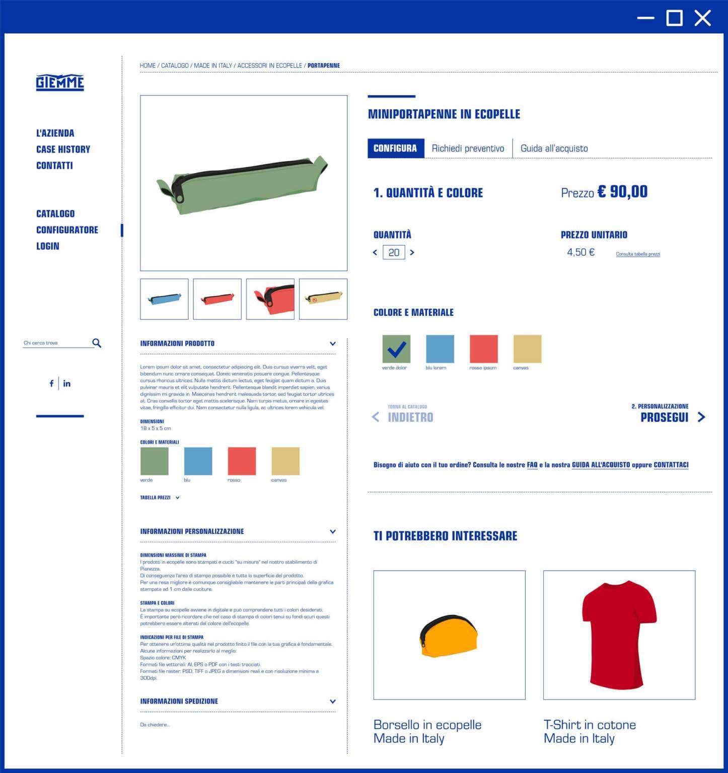 Configuratore da sito web Giemme