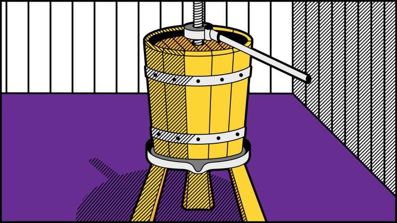 Illustrazione torchio pop art
