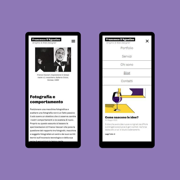 Blog In Medias Res su Smartphone