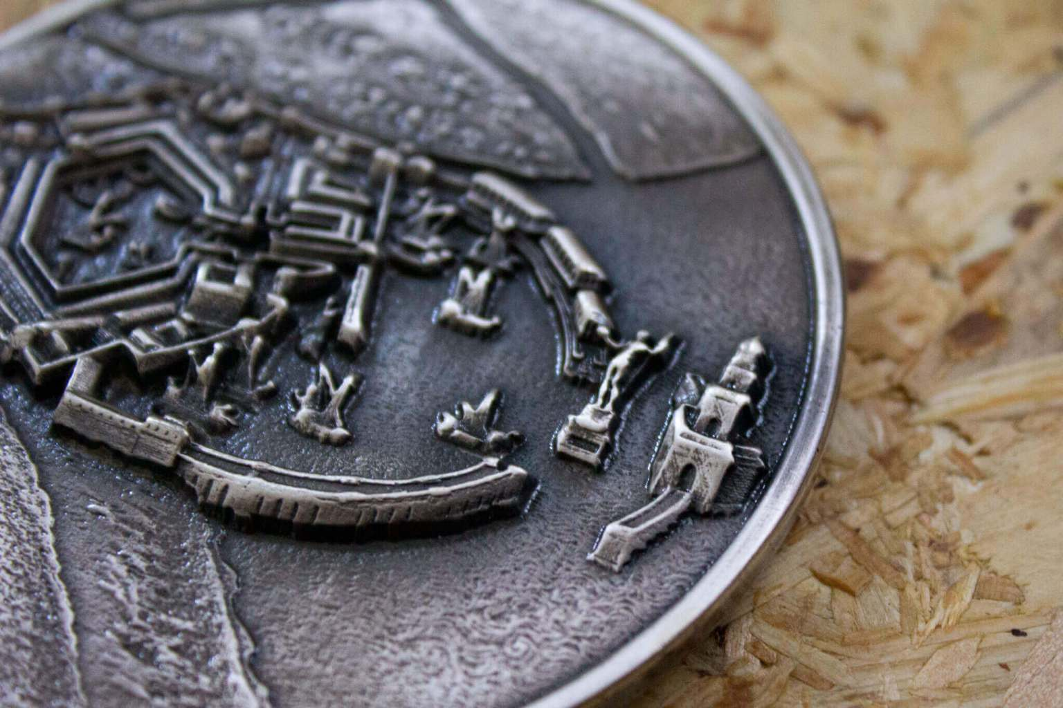 Dettaglio Bassorilievo 3D incisione romana