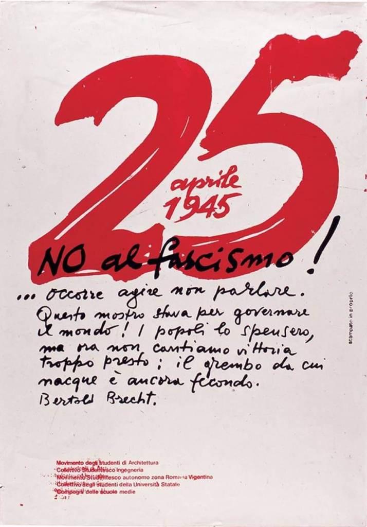 Manifesto 25 aprile 1973 Albe Steiner
