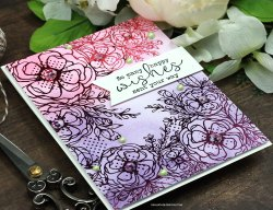 Sharing a birthday card idea using DecoFoil and Distress Inks with a tutorial and quick video. ThermOWeb Toner Card front designed by Unity Stamp Company make for beautiful backgrounds foiled and then blending with Distress Inks on top. The sentiment is from the Grow in Grace Unity Stamp Company stamp set. More inspiration on dahlhouse-designs.com. #cardmaking #cardmaker #cards #stamping #dahlhousedesigns #unitystampco #thermoweb #foiling #distressinks #timholtz #rangerink #birthdaycard #decofoil #handmadecards #diecutting #diy #carddesign #cardcraft