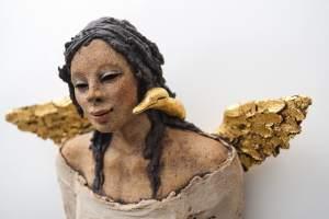 gullfuglen Ingun Dahlin keramikk skulptur