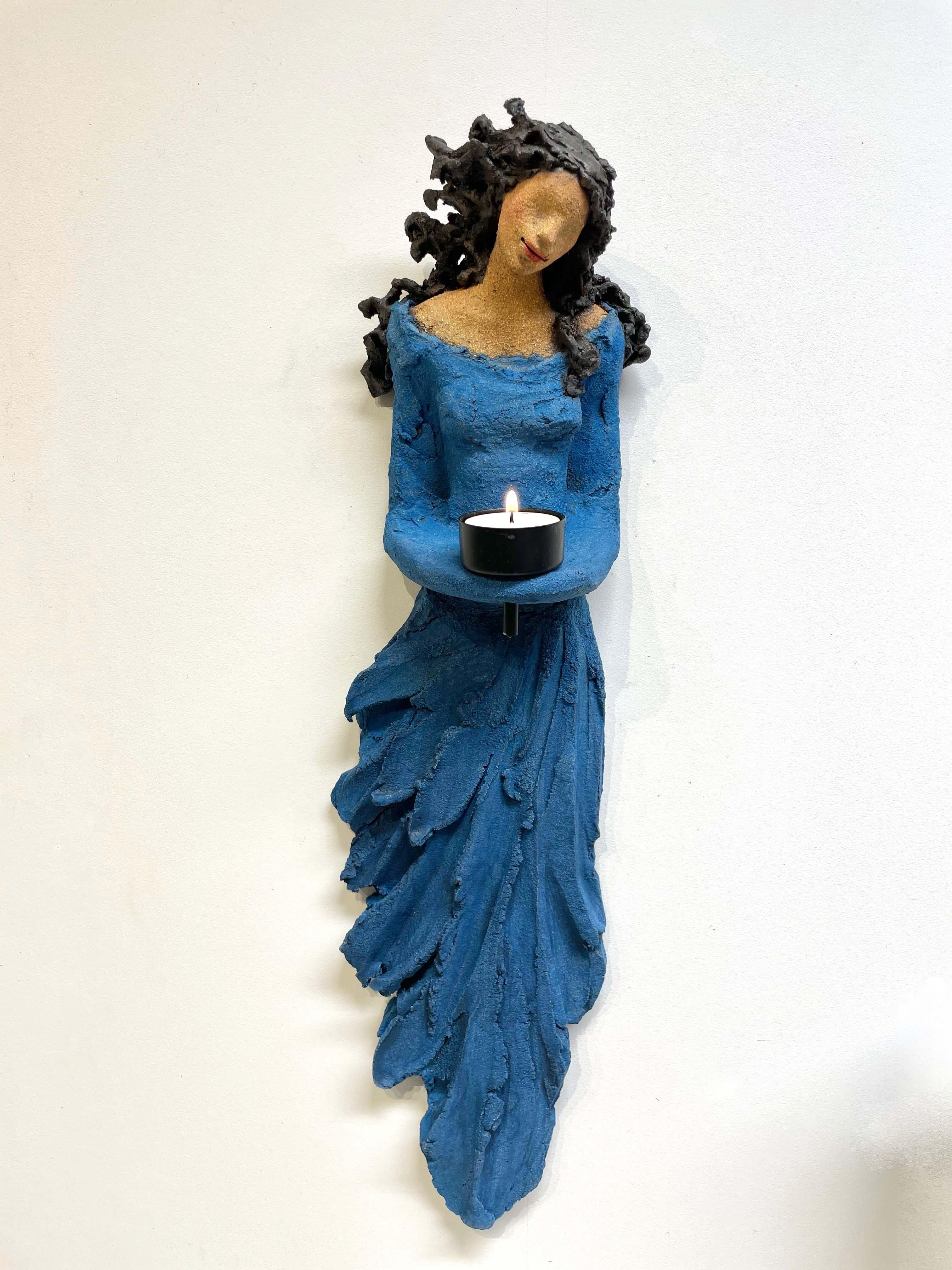 lysbærer, veggdame, Ingun Dahlin, keramikk