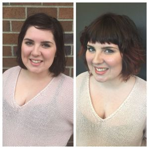 Haley Stinton Makeover before and after
