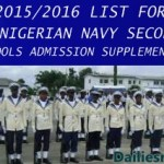 2015/2016 LIST FOR JSS 1 NIGERIAN NAVY SECONDARY SCHOOLS ADMISSION SUPPLEMENTARY LIST OUT