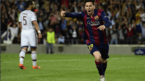 Lionel Messi goal against Bayern win best goal of the year at UEFA Champions League group stage draw